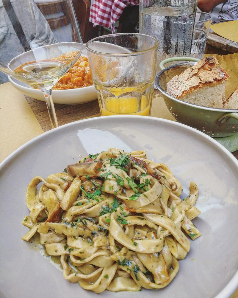 trastevere y sus pastas italianas veganas