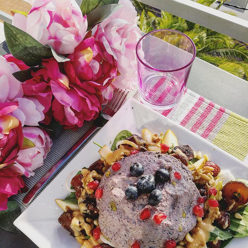 purple vegan almond cream
