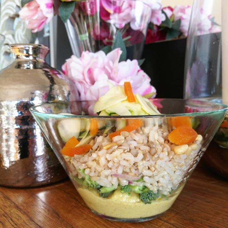 Pesto de pera con arroz integral