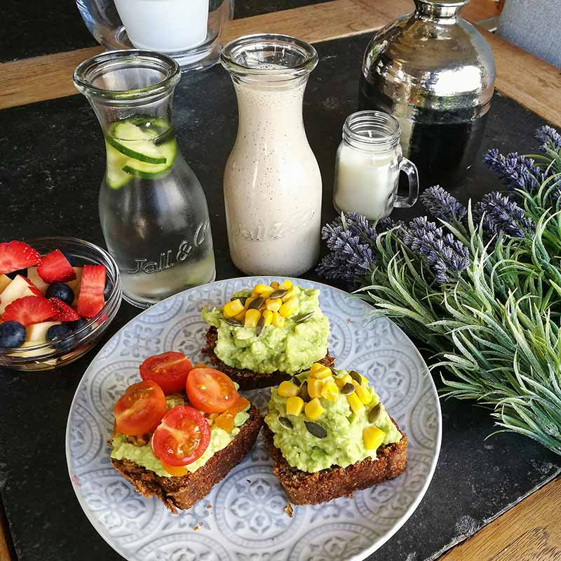 Un desayuno vegano
