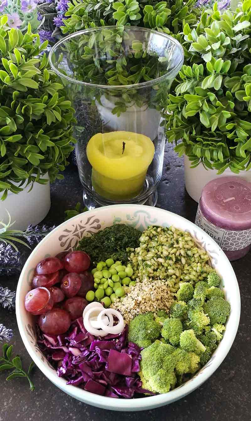 Vegan kale pesto sauce: plant based diet