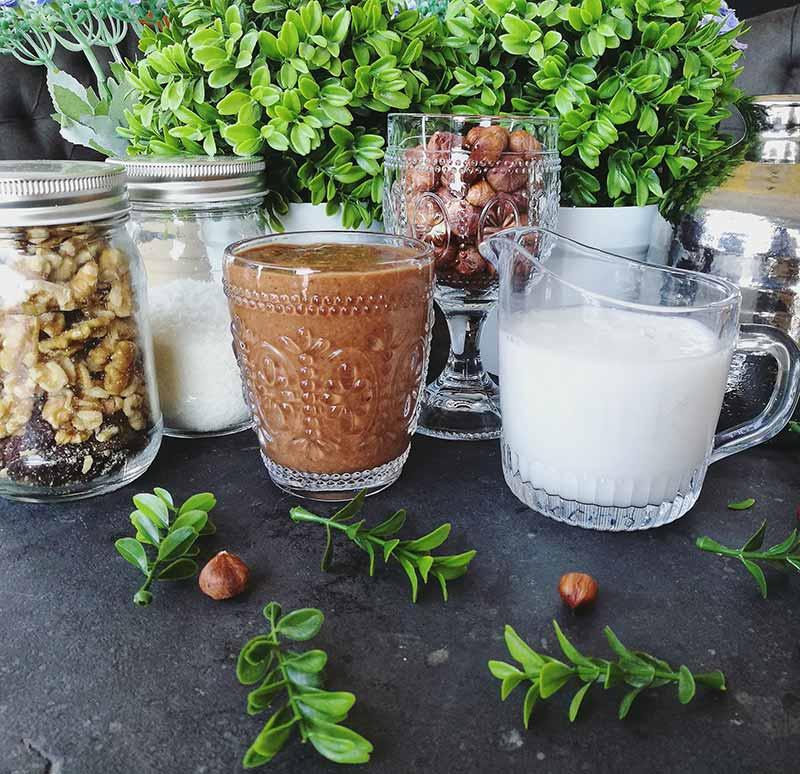Vegan smoothie of nutella recipe