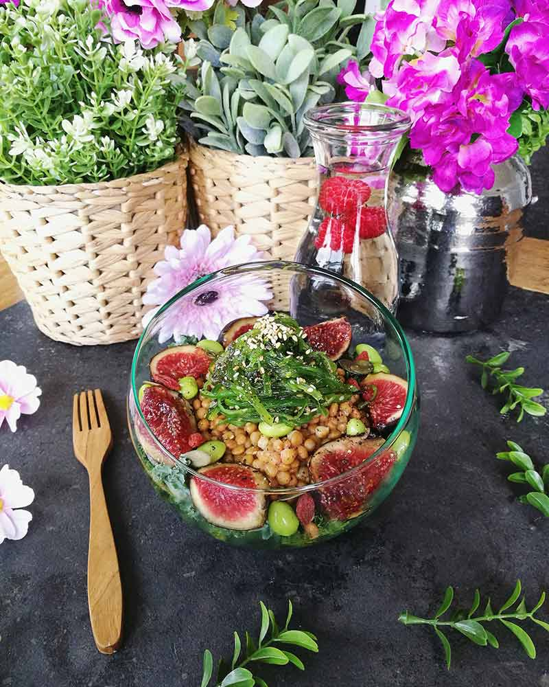 Receta vegana de la ensalada vegana super proteica