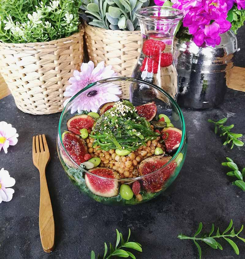 Recette végétalienne de la salade végane riche en protéines